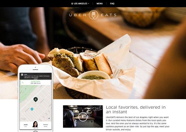 Screen capture of UberEats website.