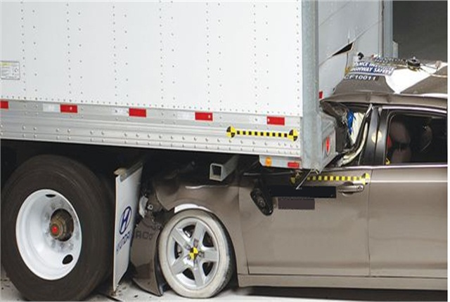 NHTSA is proposing tighter regulations aimed at preventing underride crashes. Photo courtesy of NHTSA.