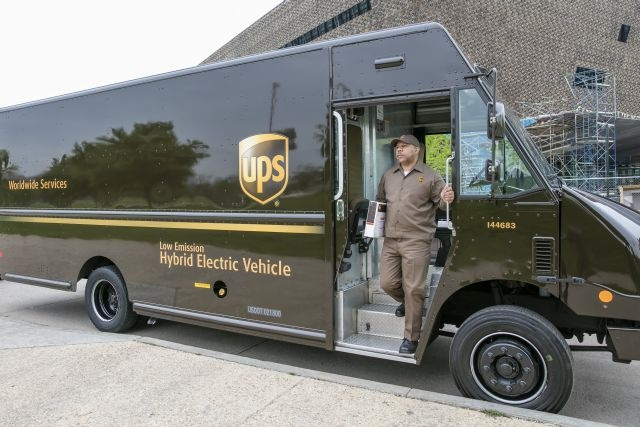 From old-fashioned pedal power and electric-assisted bicycles in dense urban areas like London and Hamburg to electric and hybrid electric vehicles in the U.S., and natural gas, renewable natural gas and propane globally, UPS is putting sustainability innovation into action, all over the world. (Photo courtesy of UPS)