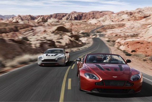 The 2015 V-12 Vantage S Roadster will debut during the 2014 Pebble Beach Concours d'Elegance. Photo via Aston Martin.