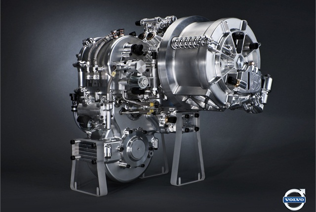 Volvo's flywheel technology is fitted to a vehicle's rear axle. Photo courtesy Volvo Car Group.