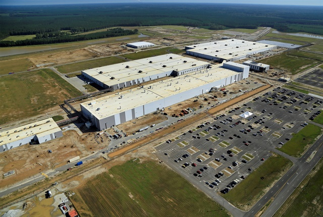Photo of Volvo's South Carolina assembly plant courtesy of Volvo.