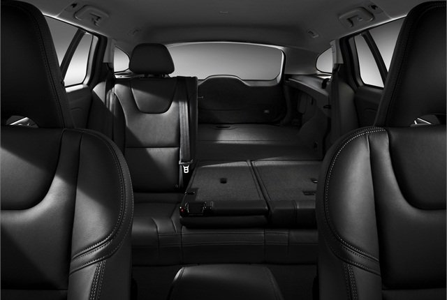 The rear seats fold down into a 40/20/40 configuration. Photo courtesy Volvo.