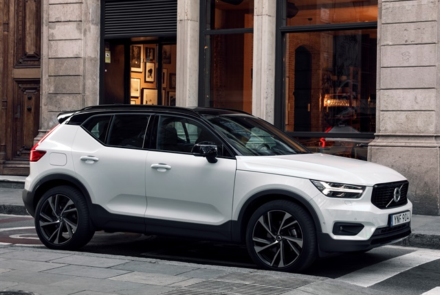 Photo of the 2018 XC40 compact SUV courtesy of Volvo.