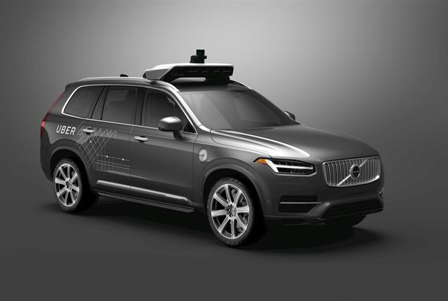 Volvo and Uber have joined forces to develop Volvo XC90 SUVs capable of autonomous driving. Photo courtesy of Volvo.