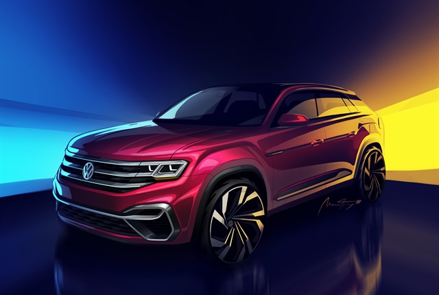 Sketch of Atlas five-passenger SUV courtesy of Volkwagen.