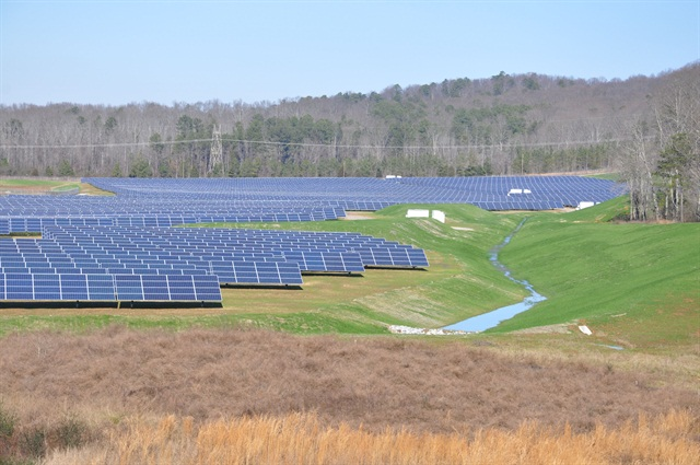 The solar panel system currently generates more than 13 million kilowatt-hours (kWh) of green power annually, according to the automaker. Photo courtesy Volkswagen.