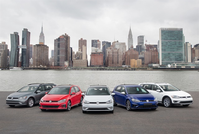 Photo of the 2018-MY Golf family courtesy of Volkswagen.