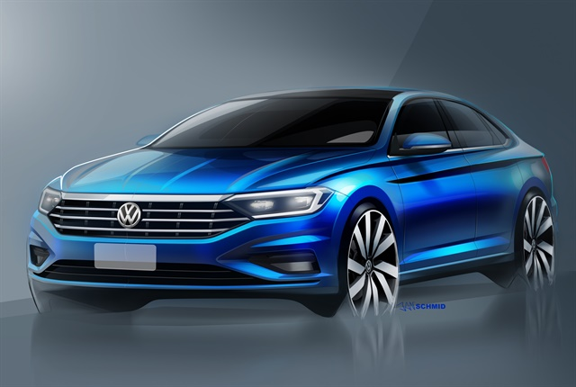 Sketch of the 2019 Jetta courtesy of VW.
