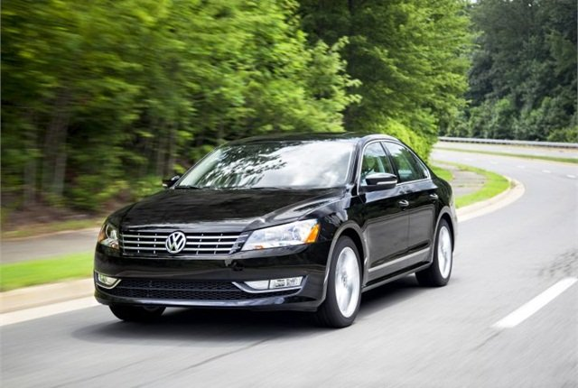 Photo of 2015 Passat 1.8T SEL courtesy of Volkswagen.