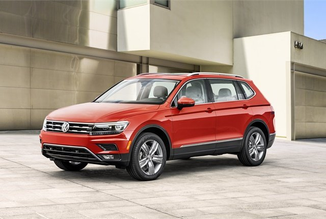 Photo of 2018 Tiguan courtesy of VW.