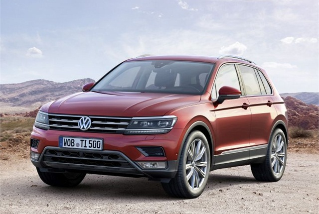 Photo of Euro-spec Tiguan courtesy of VW.