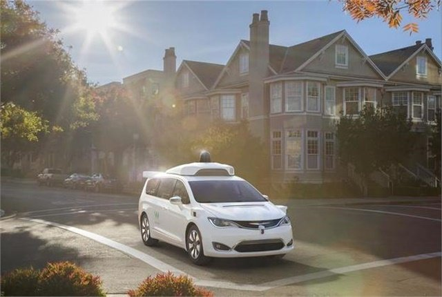 Photo of self-driving car courtesy of Waymo/FCA.