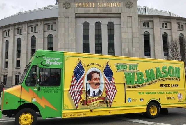 W.B. Mason has taken delivery of four Workhorse E-Gen hybrid-electric vehicles through Ryder. (Photo courtesy of Ryder.)