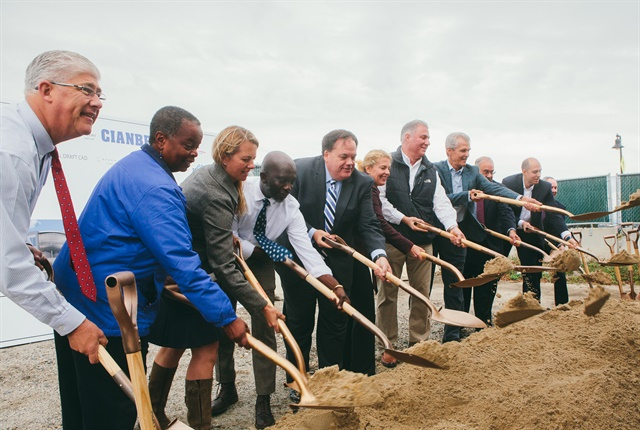 Photo of headquarters ground-breaking courtesy of WEX.