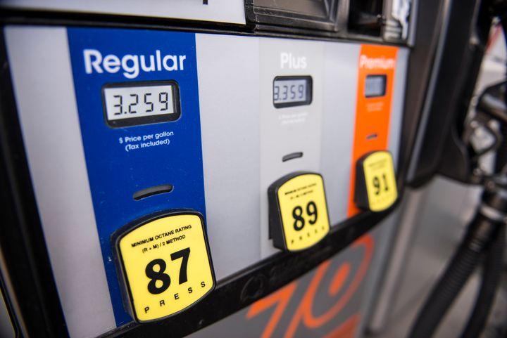 Photo of gasoline fuel pump  - By Vince Taroc