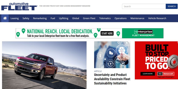 Screenshot of AutomotiveFleet.com