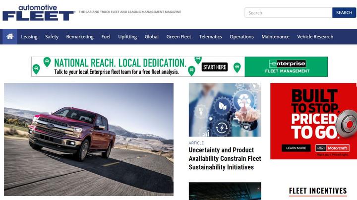 Screenshot of AutomotiveFleet.com
