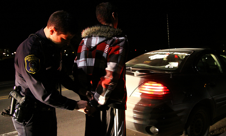 Photo of DUI arrest of a student via Jeffrey Smith/Flickr.