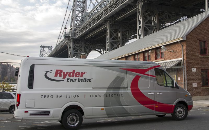 Ryder has ordered 500 Chanje medium-duty electric vans to lease to commercial fleets.  - Photo courtesy of Ryder System.
