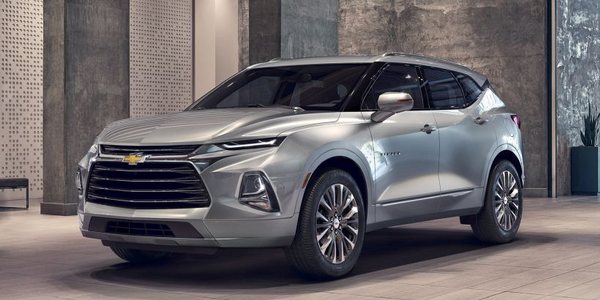 The 2019 Chevrolet Blazer midsize SUV will slot between the Equinox and Traverse in the...