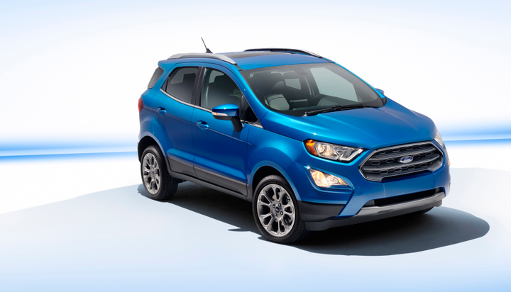Photo of 2018 EcoSport subcompact SUV courtesy of Ford.