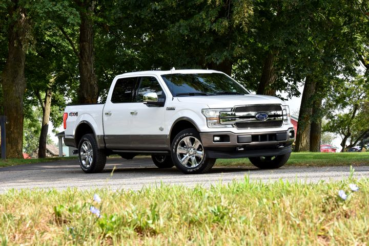 Ford is recalling five of its F-Series trucks, including the 2018 F-150 (shown), for a defect involving the engine heater cable connector.