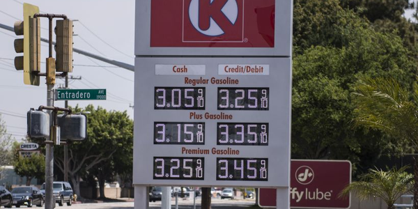 The national price of regular unleaded gasoline is near a two-year low at $2.25 per gallon.