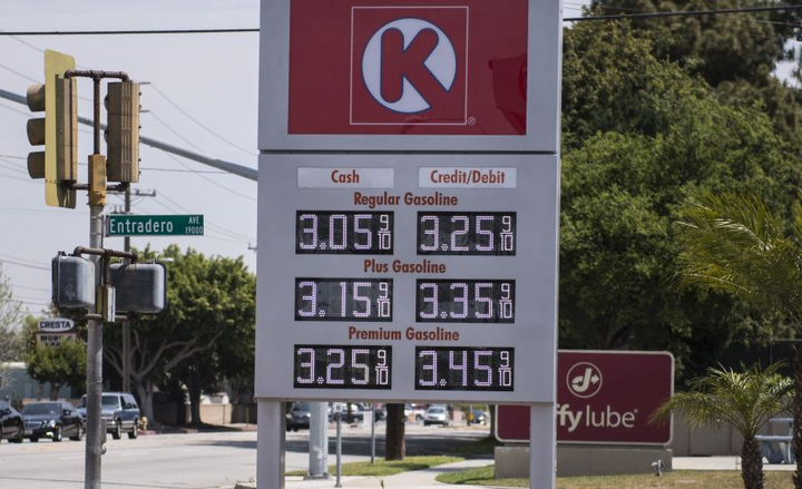 The nation's average gasoline price fell 2 cents to $2.66 as summer demand reached peak levels.