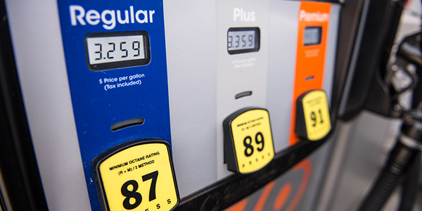 Gasoline declined to $2.64 per gallon but surging demand is keeping the slide in check.