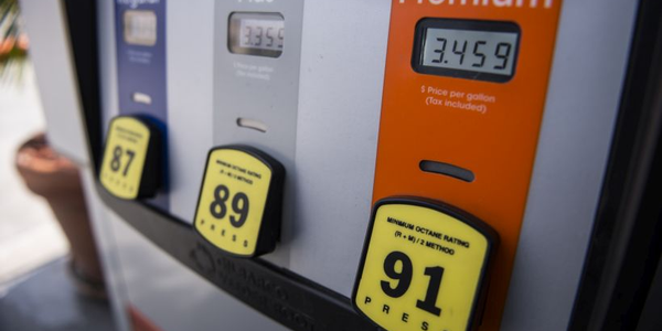 Gasoline prices increased on the West Coast and fell in the Midwest this week.