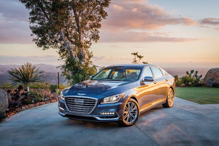 Hyundai is recalling 2018 Genesis G80 (shown)and G90 luxury sedans fora windshield defect.  - Photo courtesy of Hyundai/Genesis.