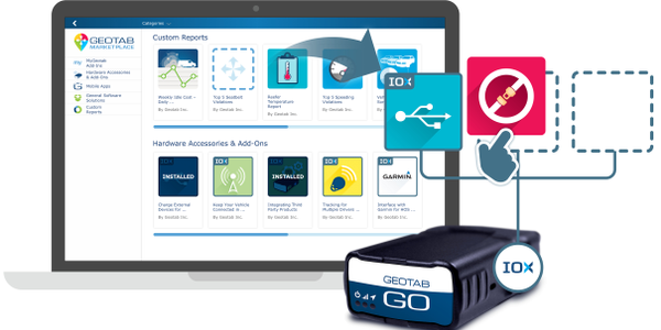Geotab's GO OBD-II device collects telematics data from fleet vehicles, and its Markeplace...
