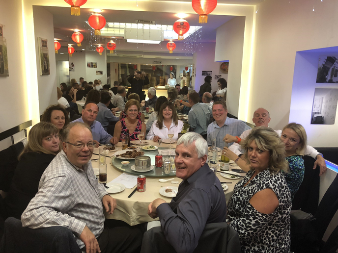 The ACFO Board of Directors and AFLA representatives at a celebratory dinner in Chinatown London following their strategic planning meeting. - Photo courtesy of AFLA.