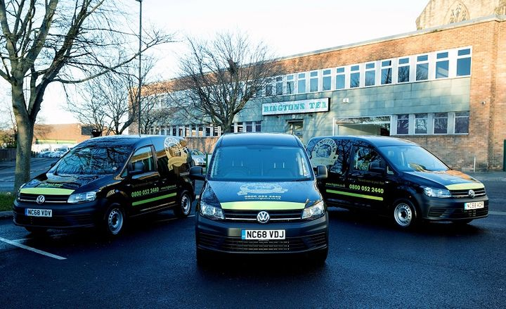 Ringtons has bolstered its fleet with range of new Caddy, Transporter, and Crafter vans - Photo courtesy of Volkswagen.
