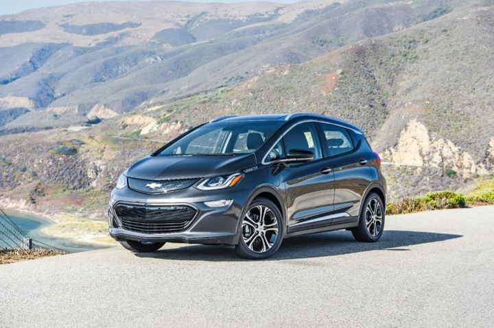 The Bolt has a range of 236 miles, and using fast chargers can get an 80% charge in an hour.
