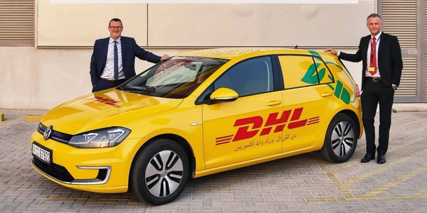 (left to right) Geoff Walsh, country manager, DHL Express UAE, and Mike Barrett, VP operations,...