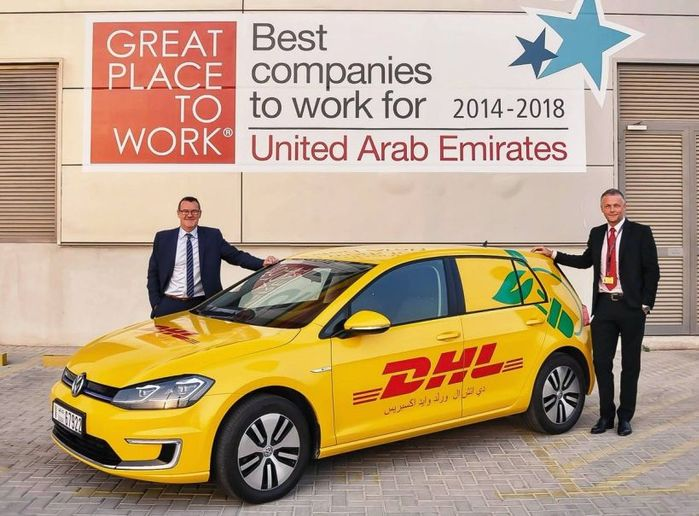 (left to right) Geoff Walsh, country manager, DHL Express UAE, and Mike Barrett, VP operations, DHL Express UAE  - Photo courtesy of DHL Express.