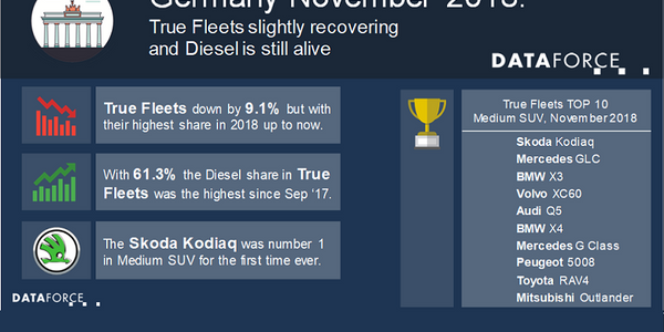 In the total German fleet market, the top automaker in terms of registrations was Volkswagen....