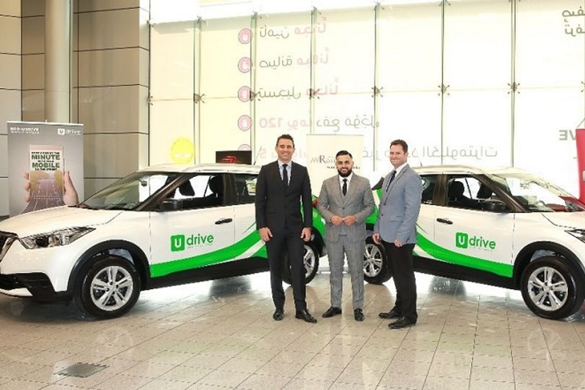 Present at the handover ceremony were (left to right) Nicolas Oswald, general manager at Arabian...