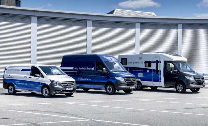 Daimler AG's van division is experimenting with a Sprinter van that's powered by a hydrogen fuel cell and electric propulsion system.