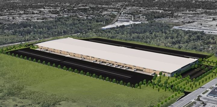General Motors is investing in a new parts logistics center that will double its capacity for processing and shipping out replacement parts.  - Rendering courtesy of General Motors.