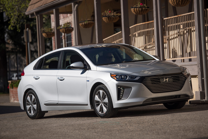 Hyundai has added a few safety options for 2019 to its Ioniq lineup that includes a battery-electric vehicle, gasoline-electric hybrid, and plug-in hybrid.
