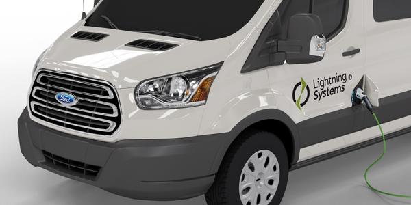 The Ford Transit 350HD equipped with the zero-emissions LightningElectric drivetrain achieves 61...