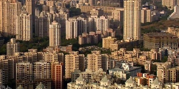 Pictured is the Mumbai Skyline in India.