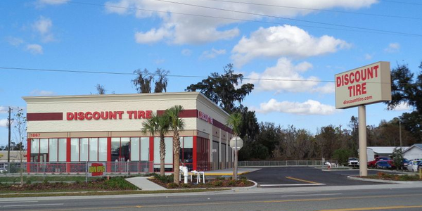 Discount Tire opened 55 tire service stores in 2018.