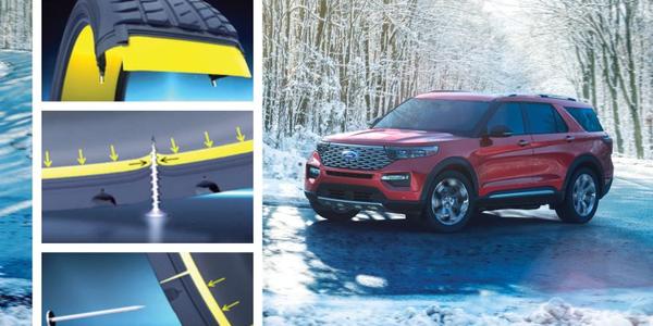 Ford's 2020 Explorer will offer Michelin's SelfSeal tires that help keep the vehicle on the road...