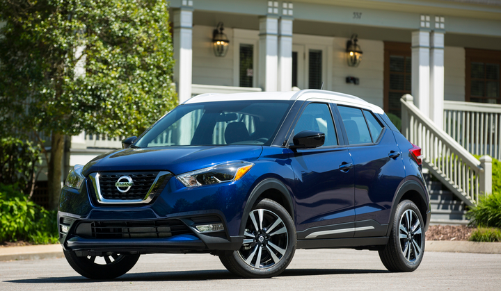 Photo of 2018 Kicks courtesy of Nissan.