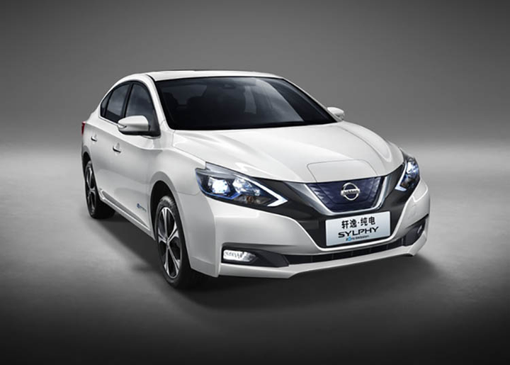 The Sylphy Zero Emission is Nissan's first mass-production electric vehicle aimed at the Chinese market.  - Photo courtesy of Nissan