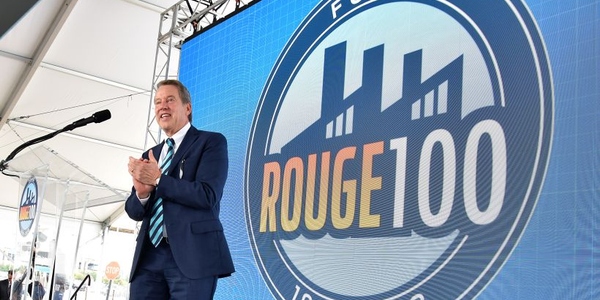 Bill Ford took center stage at Ford's centennial of its Rouge assembly plant.